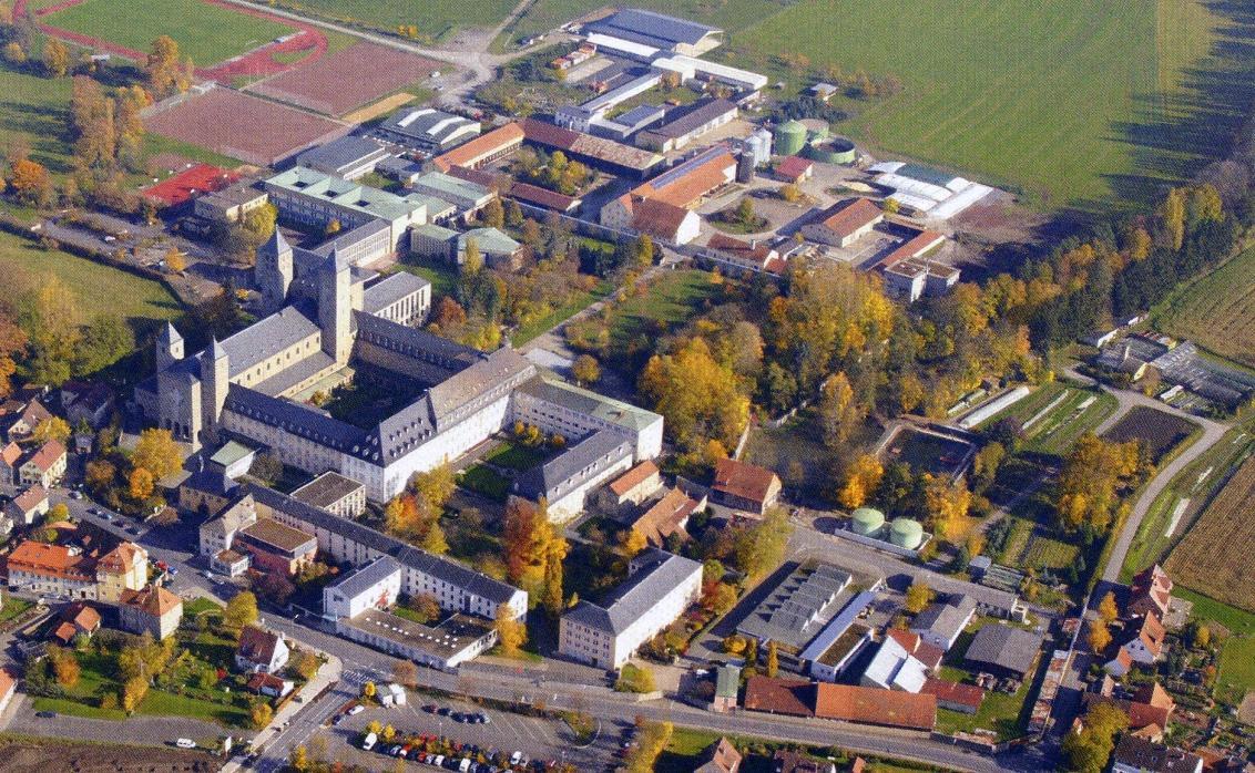 Münsterschwarzach_Abtei_Luftbild